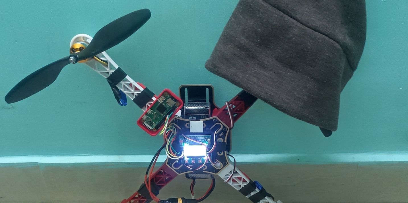 Raspberry Pi driven KK2.1.5 quadcopter
